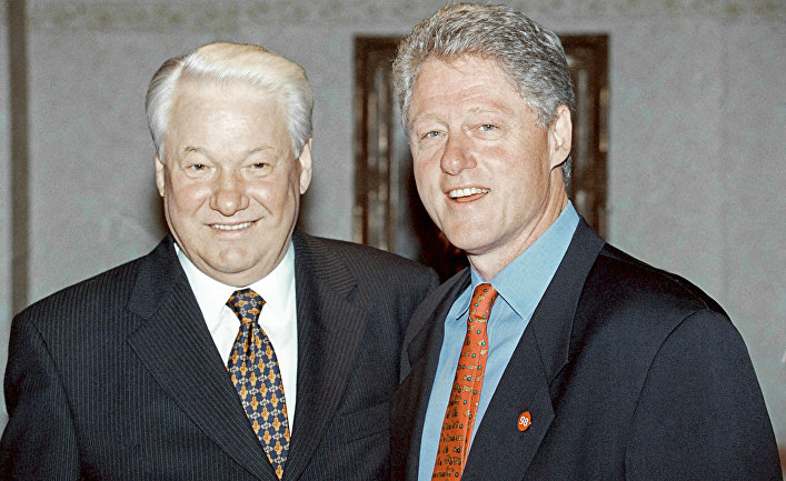 Встреча Б.Ельцина и Б.Клинтона в Бирмингеме