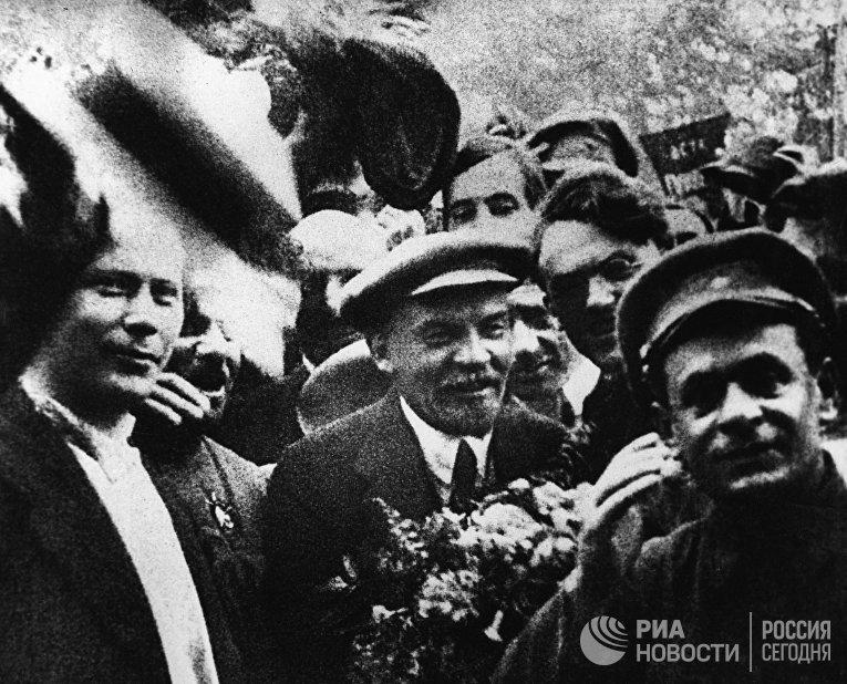 В.И. Ленин на II конгрессе Коминтерна
