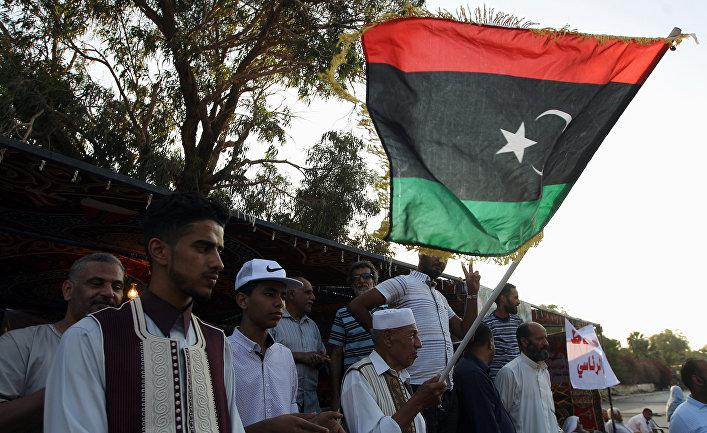 Акции протеста во время демонстрации в Бенгази