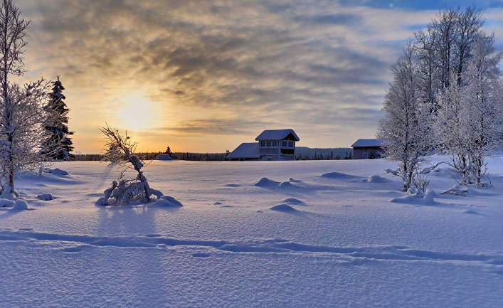 Город Рука в Финляндии