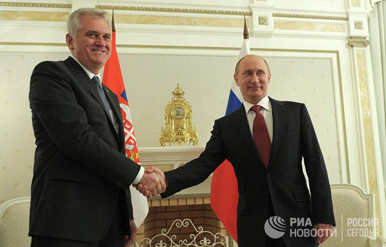 Президент России встретился с президентом Сербии в Сочи