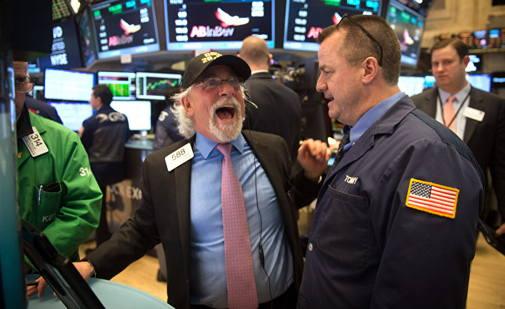 Трейдеры на Нью-Йоркской фондовой бирже
