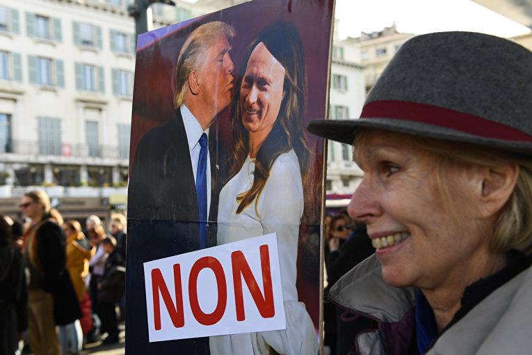 Акция протеста в Марселе