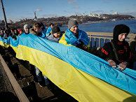 Празднование Дня единства в Киеве