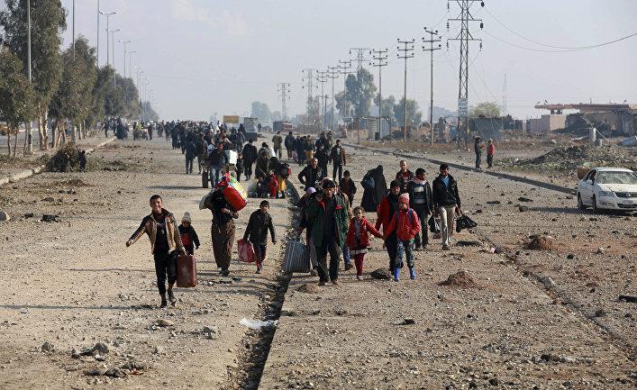 Иракцы бегут от боевых действий