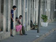 Молодые люди в Монтевидео, Уругвай