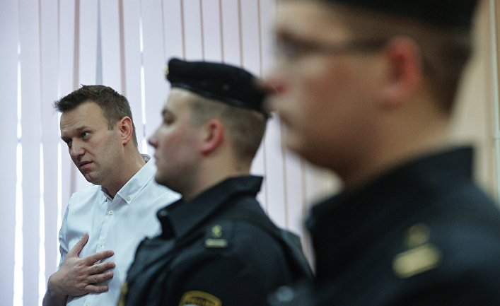 Алексей Навальный в Ленинском районном суде Кирова