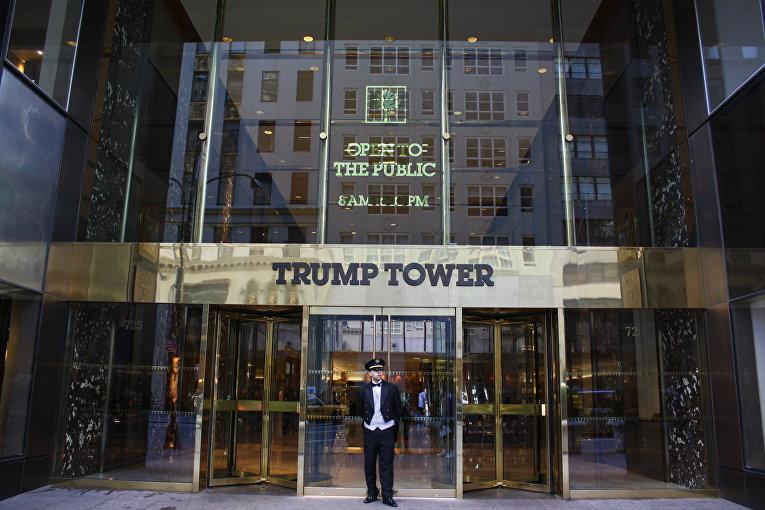 Главный вход в здание Trump Tower