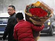 Цветы на День святого Валентина в Пекине