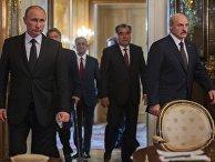 Неформальная встреча В.Путина с лидерами ряда стран СНГ