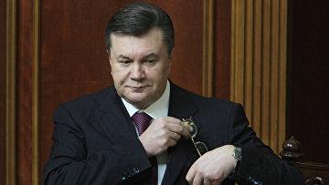 Президент Украины Виктор Янукович на открытии 10-й сессии Верховной Рады.