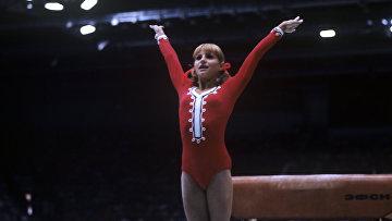 Ольга Корбут на летней Универсиаде 1973 года