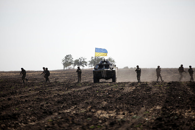 Солдаты ВСУ на востоке Украины