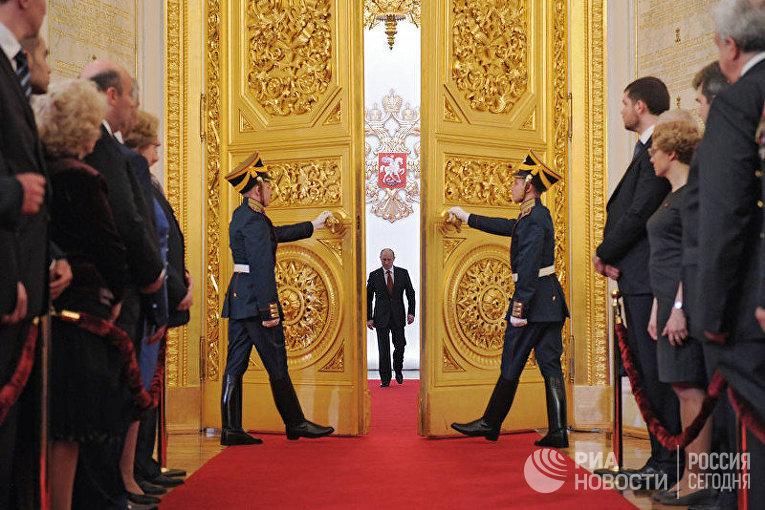 Церемония инаугурации избранного президента РФ Владимира Путина