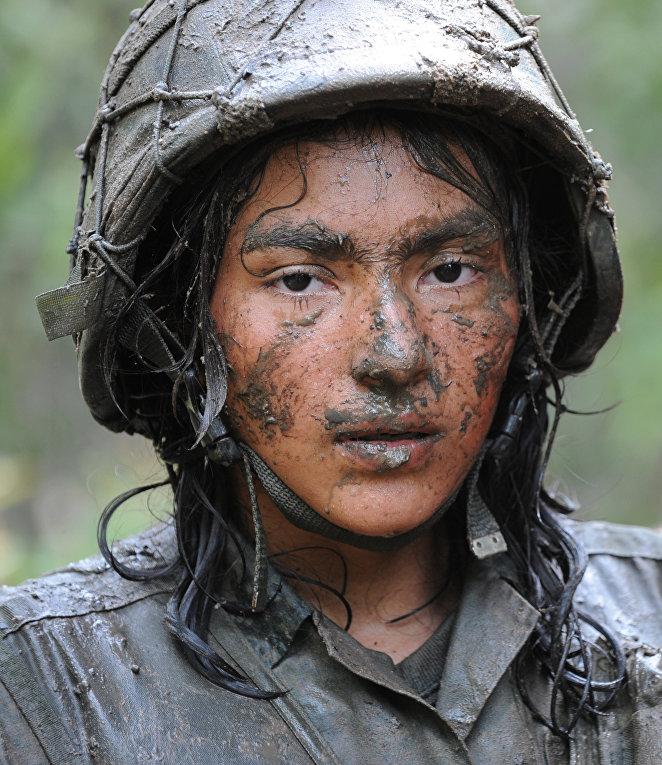 Военнослужащая в Колумбии