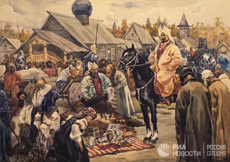 Репродукция картины художника С.В.Иванова «Баскаки»
