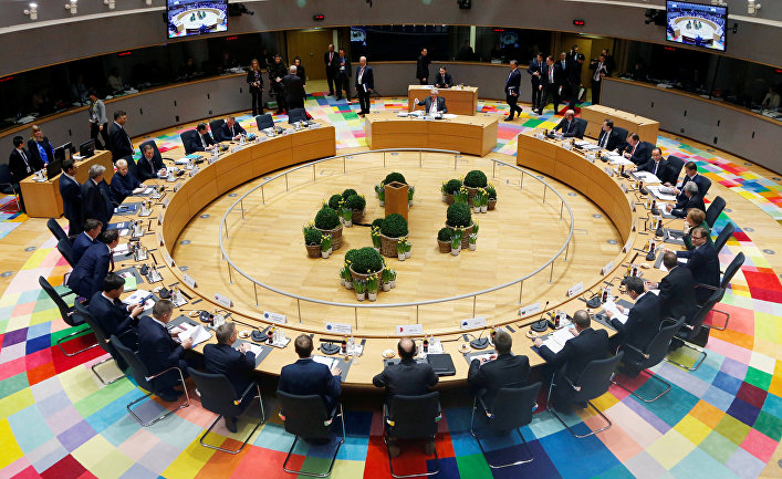Лидеры Евросоюза на саммите в Брюсселе