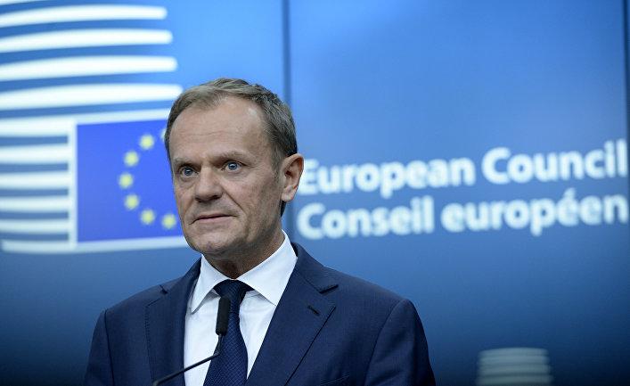 Глава Евросовета Дональд Туск в штаб-квартире ЕС
