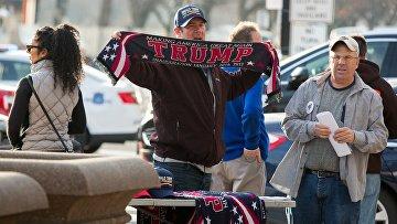 Сторонник избранного президента США Дональда Трампа