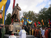 Открытие памятника Бандере во Львове
