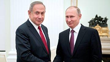 Президент РФ Владимир Путин и премьер-министр Израиля Биньямин Нетаньяху во время встречи. 9 марта 2017