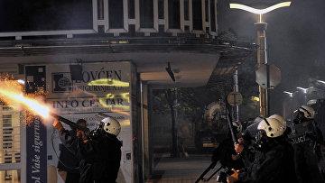 Беспорядки у здания парламента в Подгорице