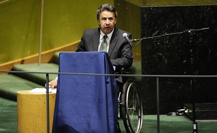 Вице-президент Эквадора Ленин Вольтер Морено Гарсес