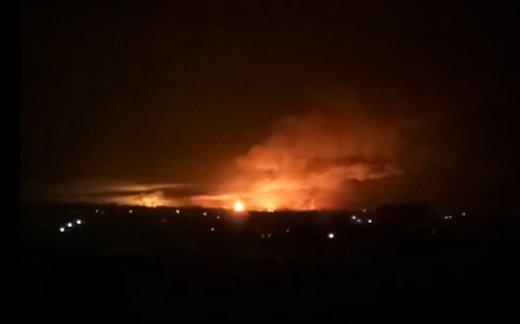 Пожар и взрывы на складах боеприпасов в Балаклее