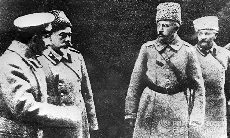 Генералы Богаевский, Деникин, Краснов и Романовский