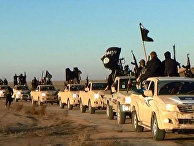Боевики Исламского государства в городе Ракка