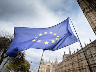 Флаг Европейского Союза на улице Лондона