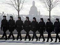 Репетиция военного парада на набережной Невы
