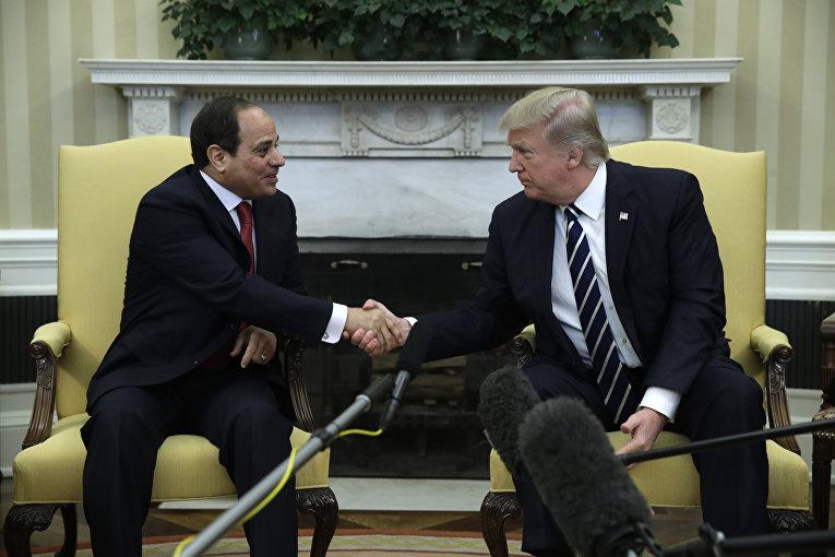 Президент США Дональд Трамп и президент Египта Абдель Фаттах Аль-Сиси