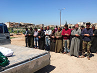 Похороны жертв газовой атаки в провинции Идлиб