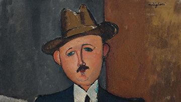 «Сидящий мужчина с тростью» Амедео Модильяни