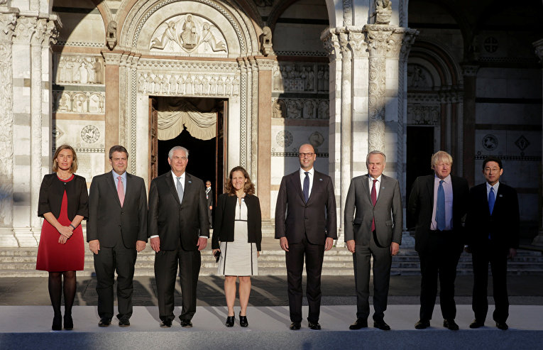 Фото министров иностранных дел стран G7, 10 апреля 2017