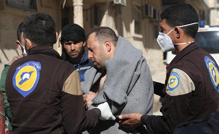 Жертва предполагаемой газовой атаки в провинции Идлиб