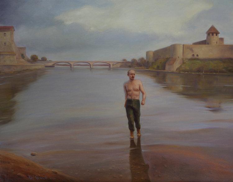 Кай Стенвалл «Путин на реке Нарва в марте 2014»