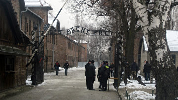 Бывший фашистский концлагерь Аушвиц-Биркенау в польском городе Освенцим