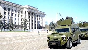 В Одессу стянули бронетехнику