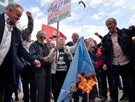 Акция протеста против членства Черногории в НАТО
