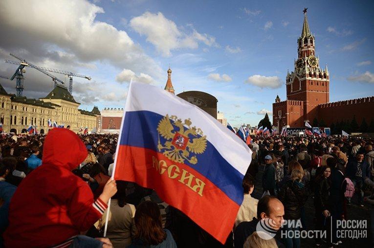 Концерт в честь Дня России на Красной площади