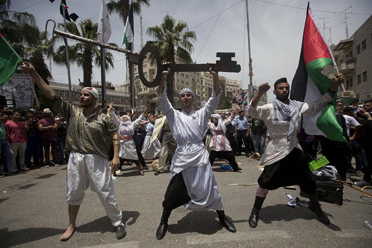 День «Накба» или «день катастрофы» в городе Рамалла, Палестина