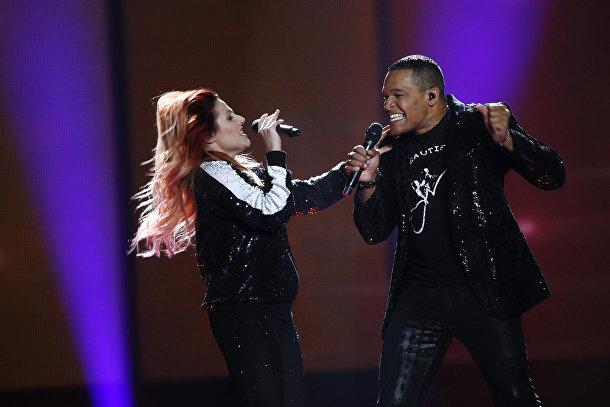 Валентина Монетта и Джимм Уилсон на Евровидении