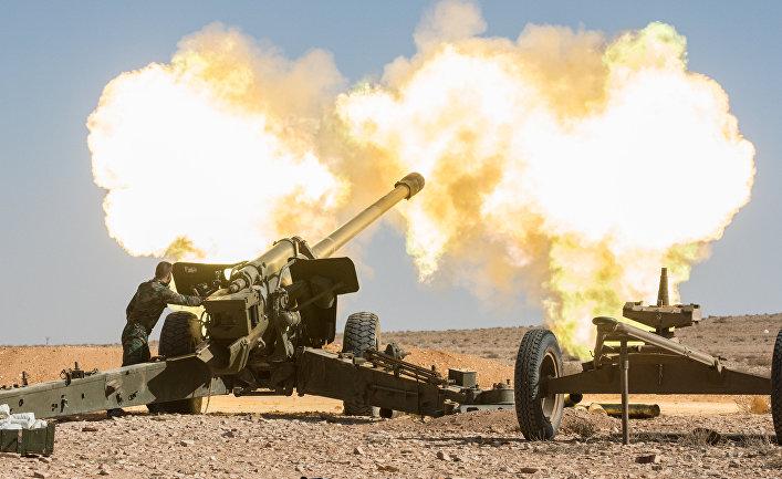 Артиллеристы Сирийской арабской армии
