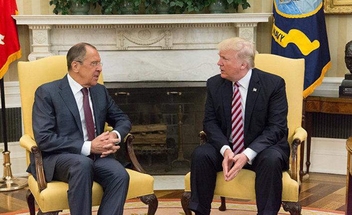Встреча министра иностранных дел России Сергея Лаврова и президента США Дональда Трампа в Вашингтоне