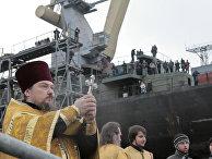 Спуск на воду головного фрегата ВМФ РФ «Адмирал флота Сергей Горшков»