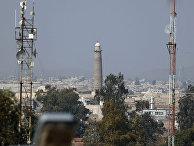 Вид на восточную часть Мосула и мечеть Аль-Нури