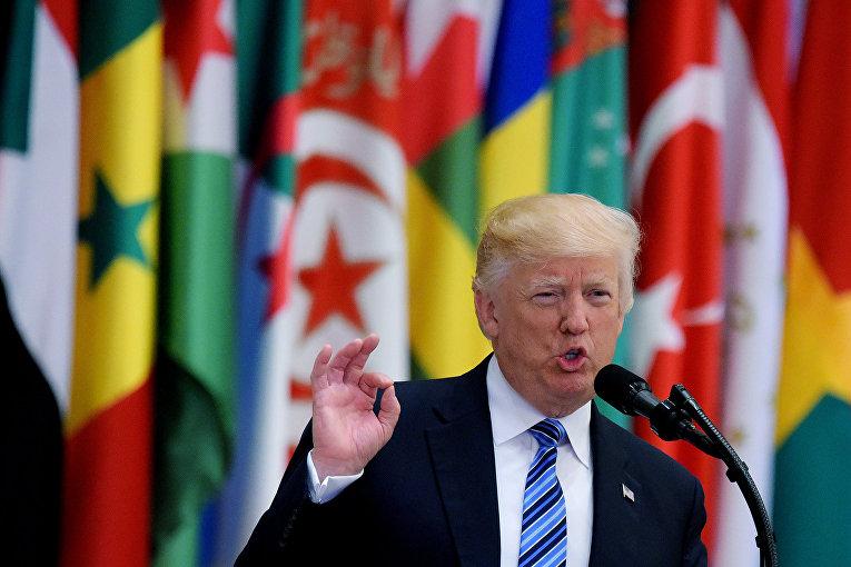 Выступление президента США Дональда Трампа