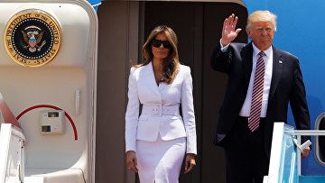 Президент США Дональд Трамп и первая леди Мелания Трамп